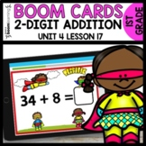 Double-Digit Addition BOOM CARDS | DIGITAL TASK CARDS | Module 4 Lesson 17