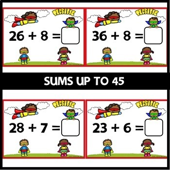 Double-Digit Addition BOOM CARDS   DIGITAL TASK CARDS   Module 4 Lesson 17