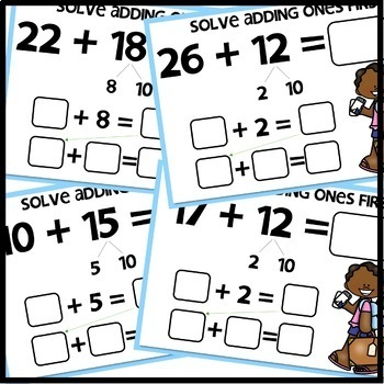 Double-Digit Addition BOOM CARDS | DIGITAL TASK CARDS | Module 4 Lesson 25