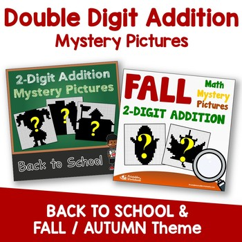 Double Digit Addition - Back To School, Fall