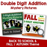 Fall Double Digit Addition, Math Coloring Sheets, Back To School Mystery Picture