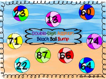 Double Digit Addition Beach Ball BUMP Game