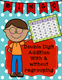Double Digit Addition Bingo With and Without Regrouping Class Set