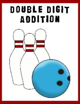 Double Digit Addition Bowling - Great for teaching 1st Grade - Cute set