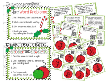 Double Digit Addition Centers ~ Holiday Themed