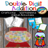 Google Classroom Distance Learning Math:  Double Digit Addition