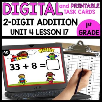 Double-Digit Addition | DIGITAL TASK CARDS | PRINTABLE TASK CARDS