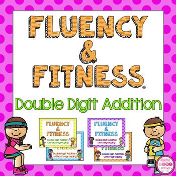 2 Digit Addition Fluency & Fitness Brain Breaks Bundle