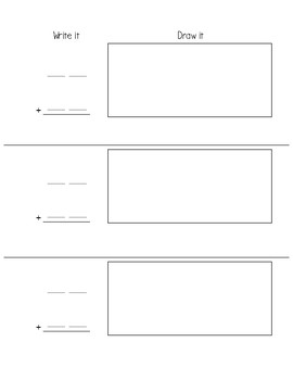 Double Digit Addition Frame - Blank Worksheet