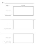 Double Digit Addition Frame - Blank Worksheet