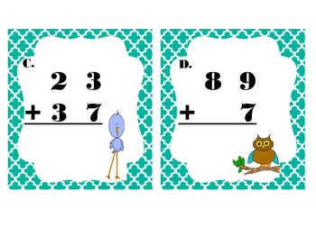 Double Digit Addition I-Spy Spring Version
