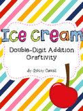 Double-Digit Addition Ice Cream Craftivity