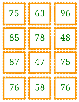 Double Digit Addition Match