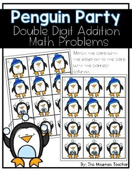 Double Digit Addition Match-Up!