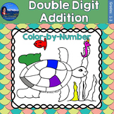 Double Digit Addition Math Practice Under the Sea Color by Number