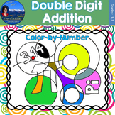 Double Digit Addition Math Practice Pi Day Color by Number