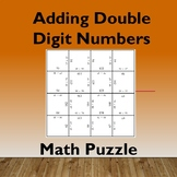 Adding Double Digit Numbers Math Puzzle