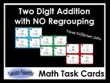Double Digit Addition Math Task Cards: No Regrouping