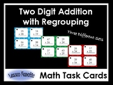 Double Digit Addition Math Task Cards: With Regrouping