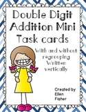 Double Digit Addition Mini Task Cards