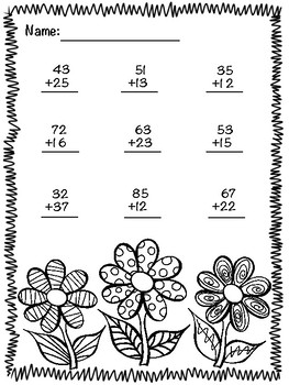 Double Digit Addition (No Regrouping)
