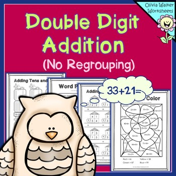 Double Digit Addition No Regrouping Worksheets For Adding