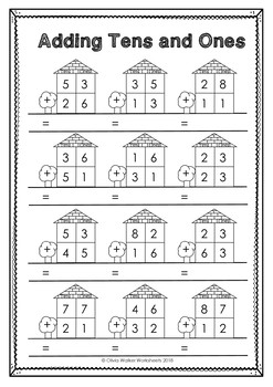 double digit addition no regrouping worksheets for adding without regrouping. Black Bedroom Furniture Sets. Home Design Ideas