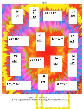 Double Digit Addition-No Regrouping