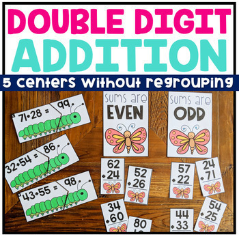 Double Digit Addition No Regrouping Math Centers