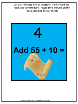 Freebie! Double Digit Addition (No Regrouping) Scavenger Hunt FREE DOWNLOAD
