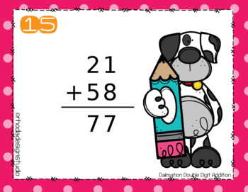 Double Digit Addition No Regrouping Task Cards Center RIT 171-180 Practice