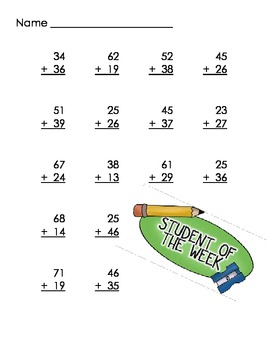 Double Digit Addition Pack 2
