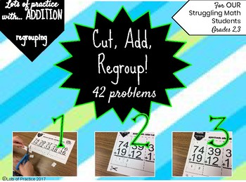 Double Digit Addition Problems & Regrouping for Struggling Math Students