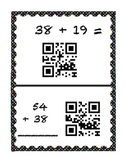 Double Digit Addition Regrouping QR Code Center
