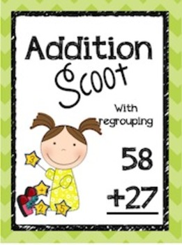 Double Digit Addition Scoot- Complete Bundle