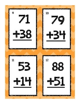 Double Digit Addition Scoot- Mixed
