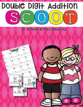 Double Digit Addition Scoot (with and without regrouping)