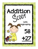 Double Digit Addition Scoot- with regrouping