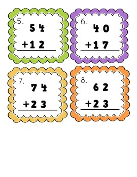 Double Digit Addition Scoot (without regrouping)