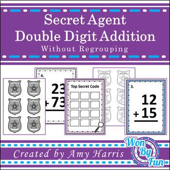 Double Digit Addition Secret Code