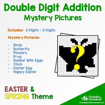 Double Digit Addition - Spring, Easter