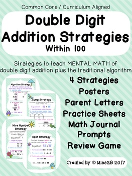 Double Digit Addition Strategies