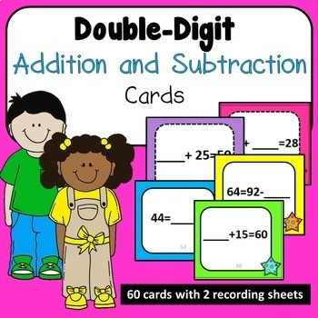 Double Digit Addition and Subtraction Problem Cards CCSS 2.OA.A.1