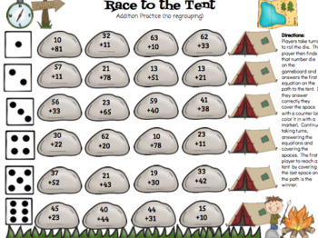 Double Digit Addition & Subtraction Practice Games (growing bundle)