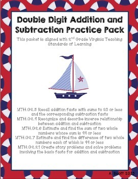Double Digit Addition & Subtraction Review Pack!
