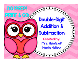Double-Digit Addition & Subtraction (With & Without Regrouping): Valentine's Day