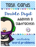 2 Digit Addition, Subtraction and Word Problem Task Cards