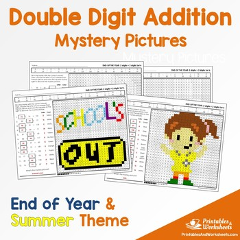 Double Digit Addition - Summer, End of Year