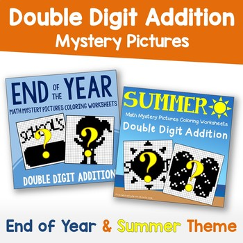 Summer Double Digit Addition, End of Year Double Digit Addition