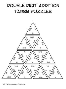 Double Digit Addition Tarsia Puzzles